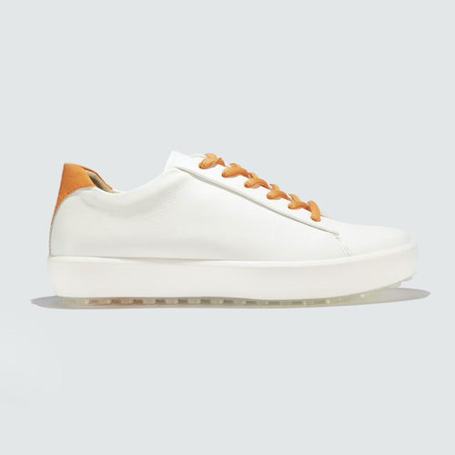 Pakira Diva Dundee Golf Shoe- Leather / Saffron Embossed Croc-Open Court