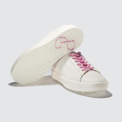 Pakira Diva Dundee Golf Shoe - White / Guava-Open Court