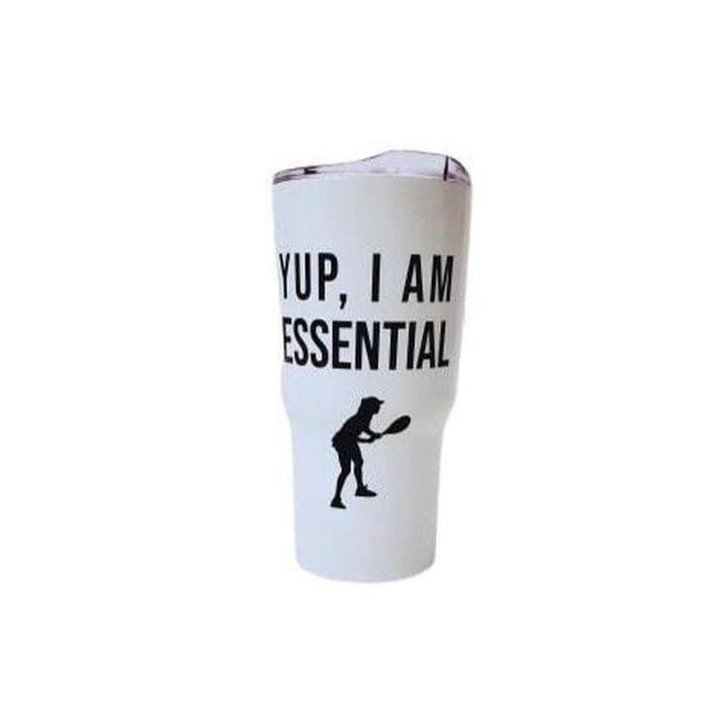 Large Tumbler - I Am Essential - Tennis-Open Court