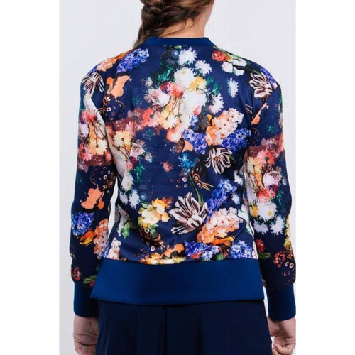Foray Golf Graphic Floral L/S Top Navy-Open Court