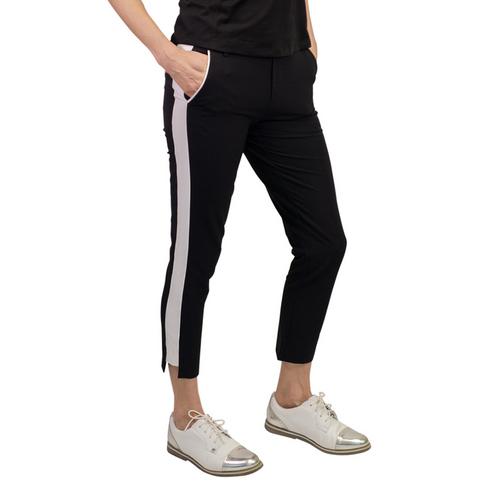 Golftini Ankle Pant - Black/White-Open Court