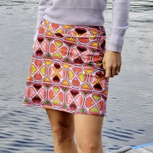 Foray Geo Stitch Skirt - Tall-Open Court
