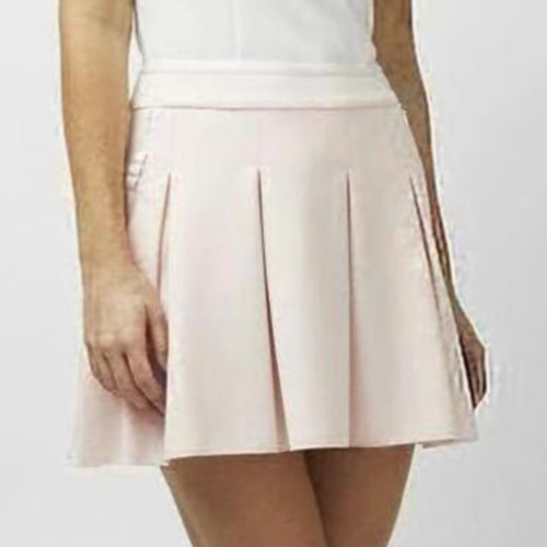 "Hedge Darrow Boxpleat Skirt 16"" - Pink-Open Court"