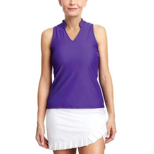 Tzu Tzu Tabitha S/L Mock Neck Top - Iris-Open Court