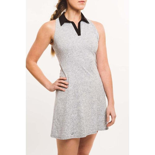 Foray Golf Core Solid Dress - Grey/Black Marl-Open Court