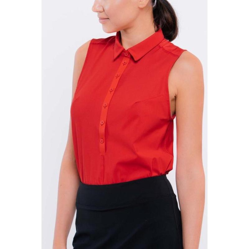 Foray Golf Core 2.0 S/L Polo - Rosso Red Thumbnail Image 1