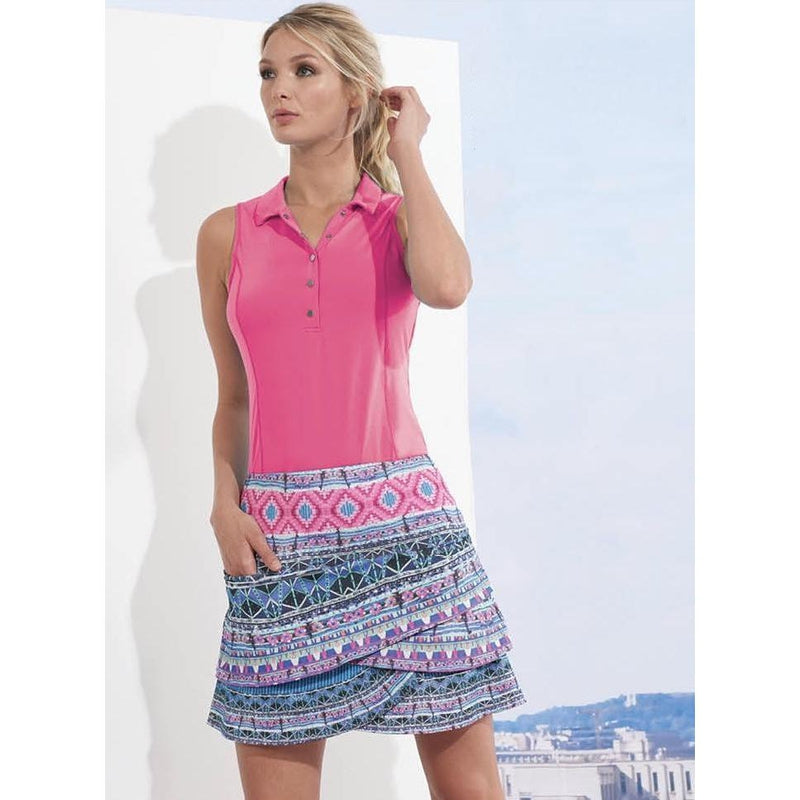 Lucky In Love Le Snap Sleeveless Polo-Open Court