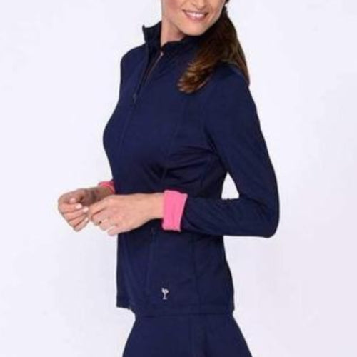 Golftini Tech Jacket - Navy/Pink-Open Court
