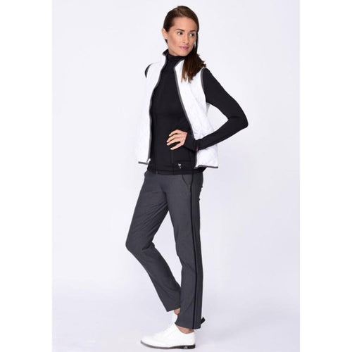 Golftini Trophy Pull-On Stretch Pant - Charcoal-Open Court