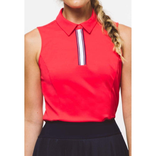 Foray Golf 2.0 Core S/L Polo Coral-Open Court