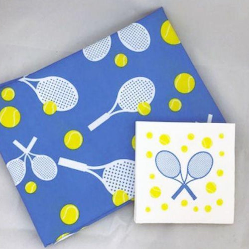 Cocktail Napkins - Raquets and Balls-Open Court
