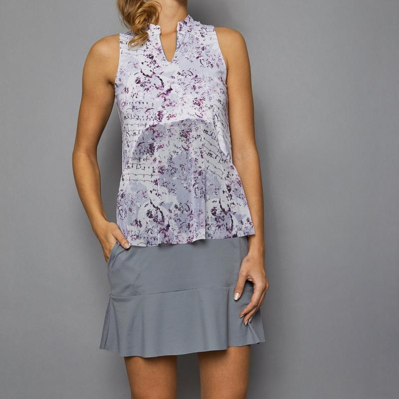 Denise Cronwall Rhapsody Golf Dress - Grey-Open Court