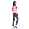Golftini Trophy Pull-On Pant - Grey/Light Pink-Open Court