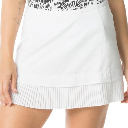 "IBKUL Crystal Pleat Skort 13"" - White-Open Court"