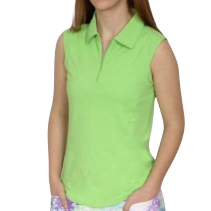 IBKUL Solid S/L Polo - Lime-Open Court