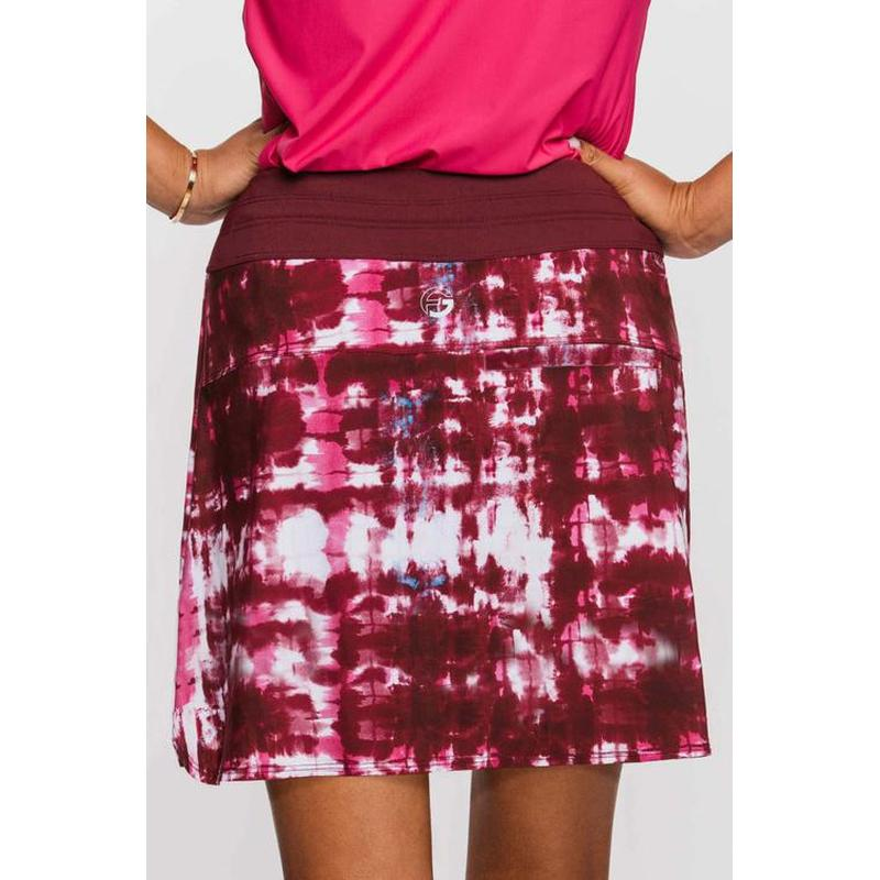 Foray OdDyeSey Skirt - Wine watercolour (Tall)-Open Court