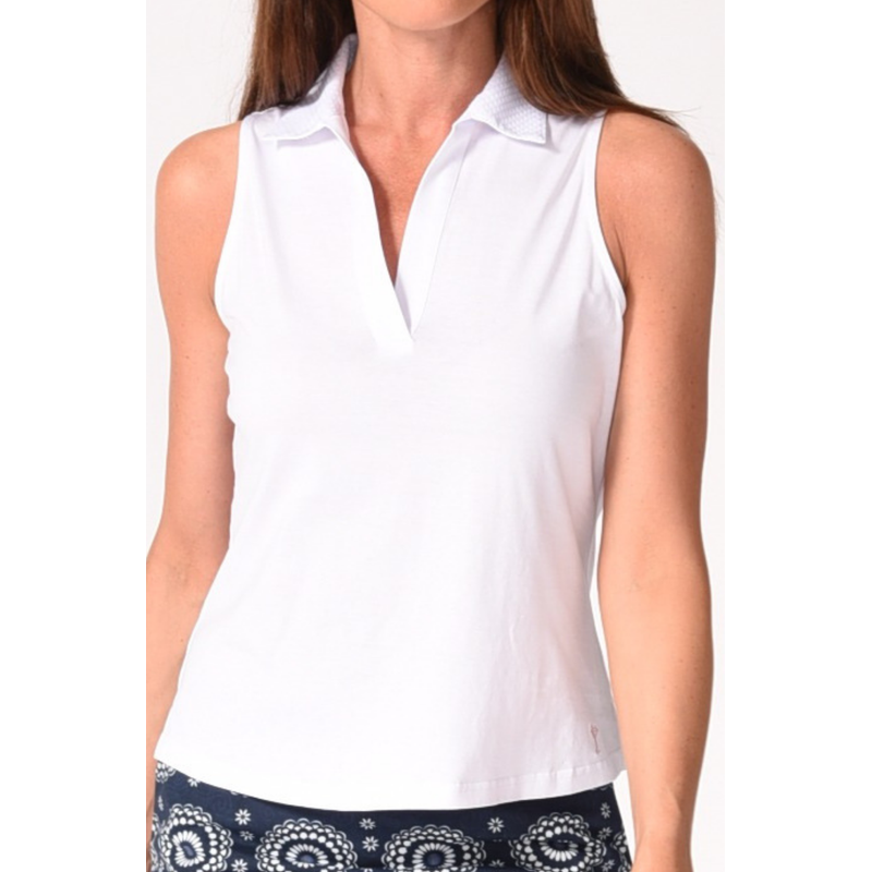 Golftini Mesh Polo S/L Tops - Open Court