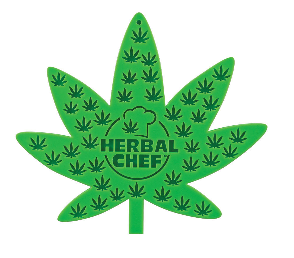 "7""x8"" Herbal Chef™ Silicone Trivet/ Pot Holder - Green Eggs"