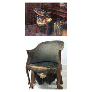 Antique Barrel Chair Chairs Miller Upholstering