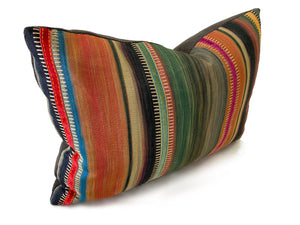 Bohemian Home Multi-colored Stripe Pillow Pillow Miller Upholstering