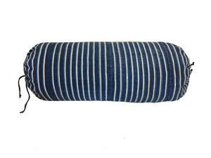 Mali Indigo Striped Cotton Bolster Pillows Pillow Miller Upholstering