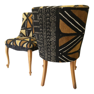 Mali Mud Cloth Bogolanfini, Four Pattern Panel Fabric Miller Upholstering