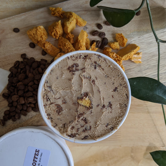 Moo Shu Ice Cream - Vegan Dalgona & Coffee Pint