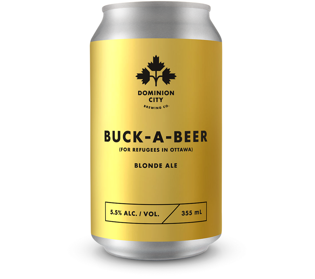 buck a beer for refugees in ottawa blonde ale dominion city