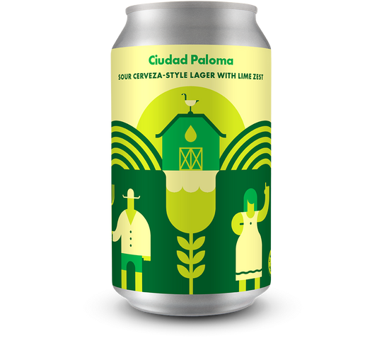 Ciudad Paloma Sour Cerveza-style Lager with Lime Zest