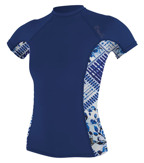 WMS SIDE PRINT S/S RASH GUARD