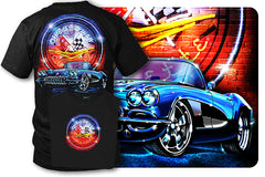 Corvette shirt - Neon - 1958 Corvette shirt - $19.99 - Wicked Metal