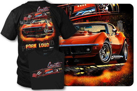 Corvette shirt - Park Loud - 1969 Corvette shirt - Wicked Metal