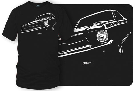 Image of Classic Mustang Shirt - 1965 Mustang tee shirts - Wicked Metal