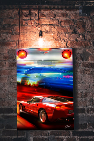 Image of Corvette Best Weekends wall art - garage art