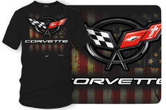 Corvette c5 logo - American Flag C5 logo shirt - $19.99 - Wicked Metal