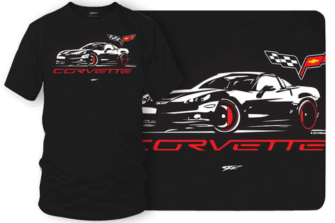 Corvette c6 Stylized - Corvette C6 Stylized logo shirt - Wicked Metal