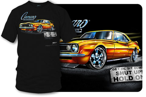 Image of 67 Camaro - Get In, Hold On - Chevy Camaro t shirt - Wicked Metal
