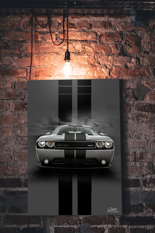 Image of Challenger wall art - garage art