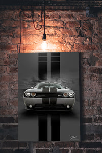 Challenger wall art - garage art