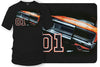 Dodge Charger t-shirt, Dukes of Hazzard Style t-shirt Black - Wicked Metal - Wicked Metal