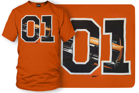 Dodge Charger t-shirt, Dukes of Hazzard Style t-shirt Orange- Wicked Metal - Wicked Metal