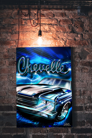 Chevelle Heavy Metal wall art - garage art
