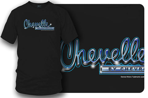 Image of Chevrolet Chevelle logo t-shirt - Black - Wicked Metal