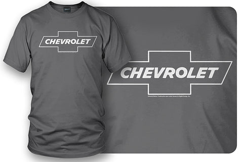 Image of Chevy Bowtie SS t shirt logo - Grey shirt - Wicked Metal