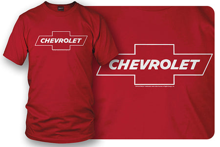 Chevy Bowtie SS t shirt logo - Red - Wicked Metal