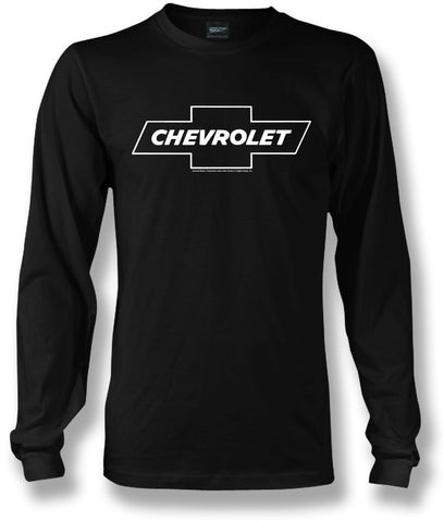 Chevy Bowtie LS t shirt logo  - Black- $25.95 - Wicked Metal