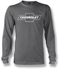 Image of Chevy Bowtie LS t shirt logo  - Grey Long Sleeve shirt- $25.95 - Wicked Metal