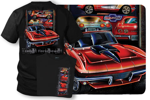 Image of Corvette Shirt - Collect Horsepower - C1, C2, C3, C5 - Wicked Metal