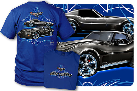 Corvette Shirt - Pinstripe - Corvette C3 shirt - Wicked Metal