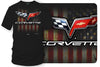 Image of Corvette c6 logo - American Flag C6 logo shirt - $19.99 - Wicked Metal